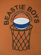 RETRO BEASTIE BOYS ATWATER BASKETBALL ASSOCIATION- SMALL ORANGE T-SHIRT-B1078
