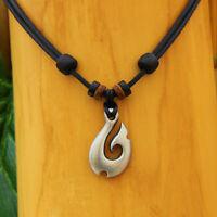 Lederkette Surferkette Halskette Herrenkette Damenkette Halsband Metallanhänger