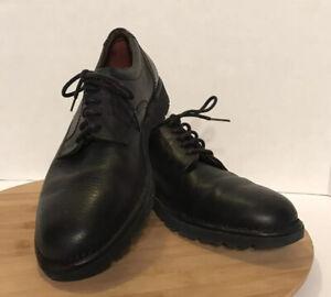 Rockport Black Tumbled Leather Oxford Comfort Dress Shoe Size 8.5 M