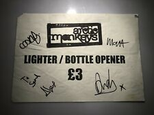 More details for arctic monkeys a4 merch stall sign fully signed original line up rare not vinyl