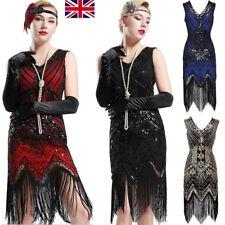 1920s V Neck Beaded Fringed Great Gatsby Dress Popular Womens Flapper Dresses