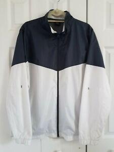 Starter Windbreaker Jacket Full Zip Colorblock Mens Size Lg Pockets Logo