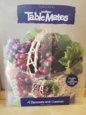 Nip TableMates Pimpernel Vinyl Placemats Place Mats & Coasters Basket of Grapes