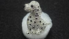 Genuine Swarovski Swan Logo Sitting Dalmatian Dalmatian Puppy Dog Brooch   157