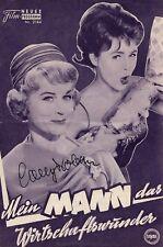 Conny Froboess - original signierte Filmprogramm MEIN MANN DAS WIRTSCHAFTSWUNDER