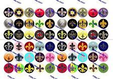 """60 Precut 1"""" FLEUR DE LIS Bottle cap Images Set A"""