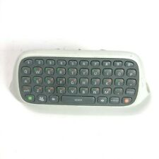 Xbox 360 Microsoft Controller Chatpad Keyboard Attachment White Tested Free Ship
