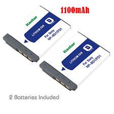 2x Kastar Battery for Sony NP-BD1 FD1 Type D DSC-T70 T75 T90 T200 T300 T500 T700
