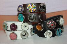 Unisex Modeschmuck-Armbänder im Armreif-Stil aus Leder