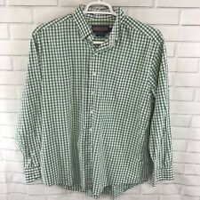 Vineyard Vines Men's Shirt Murray Long Sleeve Button Up Gingham Green Size Large