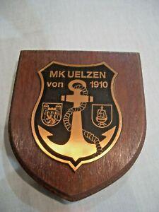 Bundeswehr Marine Marinekameradschaft M.K. Uelzen von 1910 Wappen Metall Anker H
