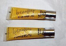 2 Victoria's Secret Beauty Rush Shiny Kiss Lip Gloss - Lemonshine
