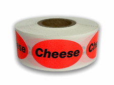 Cheese Labels Food Meat Produce Deli Stickers 875x15 Brred Oval 500roll