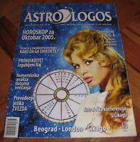 Brigitte Bardot - ASTROLOGOS Serbian October 2005 VERY RARE