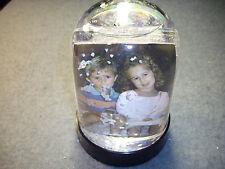 Picture Snow Globe Double Sided Photo Frame,