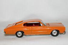 1966 Dodge Charger, Orange,  Gamda Koor Sabra 1/43 Scale, Made in Israel, Nice