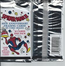 SPIDER-MAN II 30TH ANNIVERSARY UNOPENED TRADING CARD PACK FROM BOX COMIC 10 CARD