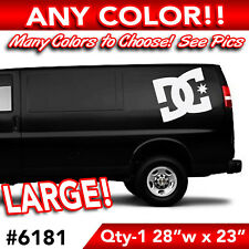 """DC SHOES LARGE WALL AUTO DECAL STICKER 28""""wx23""""h"""