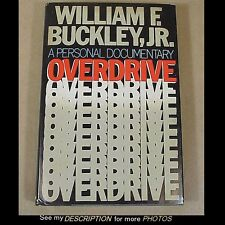1983 Autographed 1st Edition Book Overdrive by William F Buckley Jr