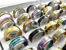 50 mix men's women's  star line stainless steel rings wholesale jewelry lots