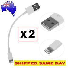 2 x SHORT Lightning Data Cable Charger for iPhone iPad H QUALITY (20 CM)Warranty