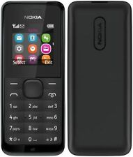BRAND NEW BOXED Dual Sim 105-NOKIA BLACK (UNLOCKED) MOBILE PHONE SEALED BOX