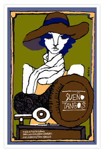 "Movie Poster 4 film""DREAM Tango""Argentina Dance.Modern Shop decor.Room interior."