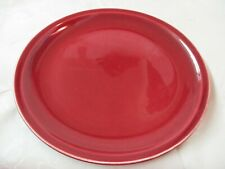 Vintage Paden City Pottery Dinner Plate Greenbrier maroon red