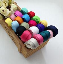 "Solid Grosgrain Ribbon Lot 17yds 1/3"" (9mm) Hair Bows Craft DIY Mixed Colors"