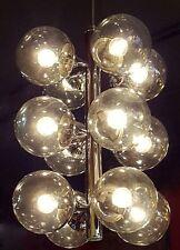 Mid Century Modern Smoky Glass MCM Chrome Lightolier Chandelier Sputnik Atomic
