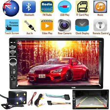 7'' Double Car Radio Stereo MP5 MP3 Player 2 Din bluetooth FM AUX USB Head Unit