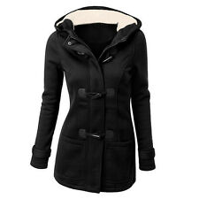 Women's Warm Coat Jacket Outwear Trench Casual Hooded Long Parka Overcoat Tops