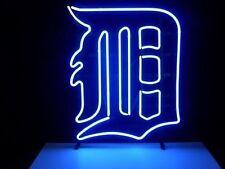 "New Detroit Tigers Man Cave Logo Neon Light Sign 17""x14"""