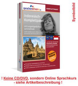 Sprachkurs Indonesisch lernen Komplettpaket Online Kurs Vokabeln Audiotrainer