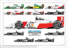 Mika Hakkinen ltd.ed.art print-The grand prix cars