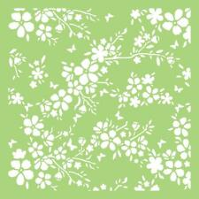 Stencil Sheet BLOOMS 6 x 6 Designer Template Plastic Reusable Kaisercraft