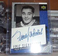 FRANK MAHOVLICH 2000/01 UPPER DECK NHL LEGENDS EPIC SIGNATURES AUTOGRAPH AUTO