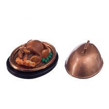 1:12 Dollhouse Miniature Food Christmas Turkey With Lid N3X1