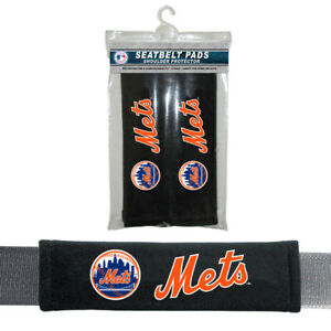 NEW YORK METS 2-PACK SOFT VELOUR SEAT BELT PADS - MLB BASEBALL - FREE SHIPPING
