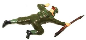 BRITAINS PRE-WAR SET 1627 USA SOLDIERS IN ACTION - 1939 - CRAWLING FIGURE MINT