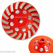 "4.5"" Turbo Diamond Grinding Cup Wheel for Concrete 18 Segs - 5/8""-11 Threads"