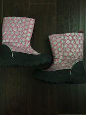 euc POLAR EDGE pink/black WINTER snow BOOTS girl sz 4