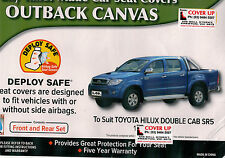 HILUX CHARCOAL CANVAS 03/2005 TO 09/2015  CAR SEAT COVER  FRONT & REAR