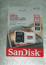 SANDISK Ultra® Micro-SDXC Speicherkarte 64 GB 80 MB/s Class 10 Micro SD Memory