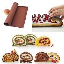Silicone Sushi Baking Mat Pizza Pan Swiss Cake Roll Mat Chocolate Baking Tool OT
