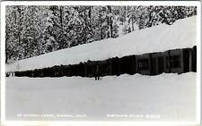 RPPC MINERAL, CA California   MINERAL LODGE in the SNOW  1955 Eastman Postcard
