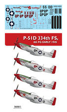 1/48 P-51D 334th FS, 4th FG EARLY 1945 / MONOKIO Decals
