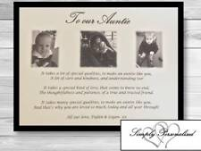 Personalised Auntie Gifts Birthday Aunty Aunt Gift Thank you Gift Mothers Day