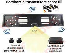 "kit monitor 4,3"" Telecamera retromarcia portatarga wireless 2 sensori parcheggio"