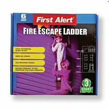 New First Alert El53W-2 Three-Story Portable Fire Escape Safety Ladder 24 Feet